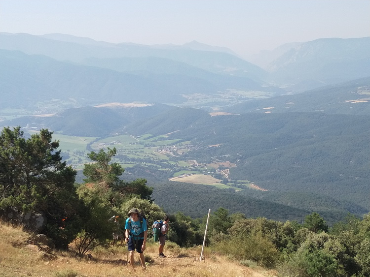 - Going up towards Collada de la Torre. In the background, all the way that we've come